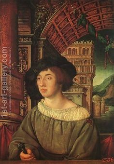Ambrosius Holbein Portrait of a Young Man 1518  relatively unknown brother of Hans Holbein; died young (early-mid twenties.)
