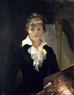 Bashkirtseff, Maria (1858-1884) - 1880 Self-Portrait with Palette (Private Collection) by RasMarley, via Flickr
