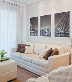 arquiteturadoimóvel: Apartamento de 70m² em São Paulo- escolha acertada de mobiliário e uso de cores neutras conferem conforto e funcionalidade aos pequenos ambientes