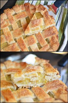 pineapple pie collage by forkvsspoon Tried it--- SO GOOD Pinapple Pie, Pineapple Pie Recipes, Pineapple Desserts, Coconut Desserts, Sin Gluten, Gluten Free Pie, Pie Dessert, Dessert Recipes, Just Cakes