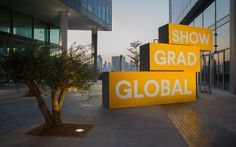 Branded environment and signage for Global Grad Show by Bond.