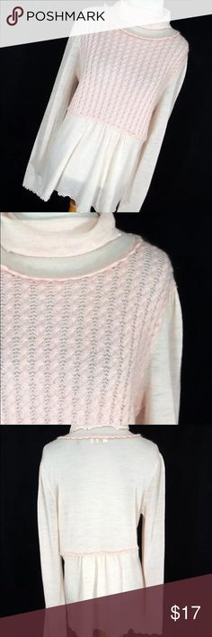 Anthropologie Moth Pink lightweight sweater Large This beautiful pink sweater has a turtleneck and is thin Knit. EUC Anthropologie Sweaters Cowl & Turtlenecks