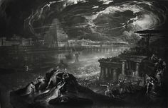 #Cyropaedia #Cyrus & John #Martin (British, 1789–1854), The Fall of Babylon, a mezzotint with etching, 1831, 464.00x719.00mm, British Museum.  Cyropaedia Books 2-7 That Babylon was conquered on the night of a festival by diverting the Euphrates River from its channel is also stated by Herodotus (1.191). https://en.wikipedia.org/wiki/Cyropaedia