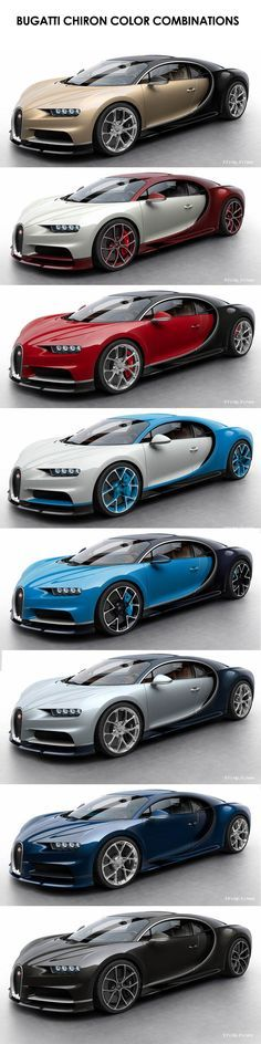 Good lord, what color shall I pick? The $2.6 million dollar Bugatti Chiron Color Combinations