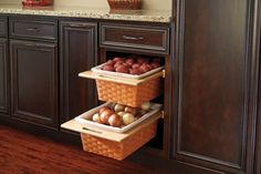 Rev-A-Shelf 4WV-15I | Bring a natural look to your design with beautiful woven baskets.  Perfect for storing fruit, vegetables and much more they are available in three sizes to fit a variety of cabinet applications.