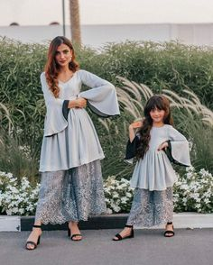 Image may contain: one or more people, people standing and outdoor Mother Daughter Poses, Mother Daughter Wedding, Mother Daughter Dresses Matching, Mother Daughter Fashion, Mom Daughter, Indian Designer Outfits, Designer Dresses, Glitter Unicorn, Patiala Dress