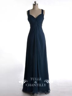 navy blue bridesmaid dresses | ... 00 : Custom Wedding, Prom, Evening Dresses Online | Tulle & Chantilly