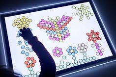 60 pàgines x imprimir!!! ex:Dibujando con los discos metálicos translúcidos en la mesa de luz