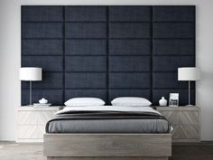 VANT Upholstered Headboards - Accent Wall Panels - Packs of 4 - Vintage Leather Black Coal - 30 Wide x Height - Easy to Install - Queen - Full Size Headboard Wall Mounted Headboards, Upholstered Wall Panels, Panel Headboard, Headboards For Beds, Upholstered Headboards, Queen Headboard, Bed Headboard Design, Full Size Headboard, Headboard Ideas