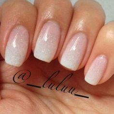 manicure - French ombre - a subtle way to have extravagant nails on your wedding. - manicure – French ombre – a subtle way to have extravagant nails on your wedding day. Cute Nails, Pretty Nails, My Nails, Oval Nails, Clear Nails, Nails 2017, French Manicure Designs, Nail Art Designs, Bridal Nails Designs