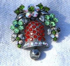Holiday Bell Pin