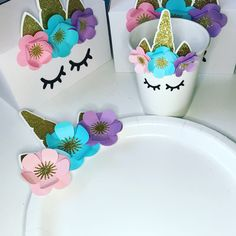 Excited to share the latest addition to my #etsy shop: Unicorn Tableware, Unicorn Cup, Unicorn Plate, Unicorn Party, Unicorn Decorations