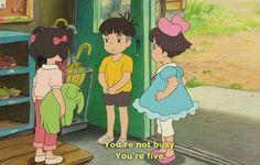 """Ponyo - Miyazaki.  """"You're not busy.  You're five.""""  :D"""