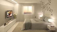 vinilos decoracion dormitorios matrimonio modernos Bedroom Simple, Pretty Bedroom, Modern Bedroom, Serene Bedroom, Home Bedroom, Bedroom Decor, Bedroom Ideas, Dream Rooms, Dream Bedroom