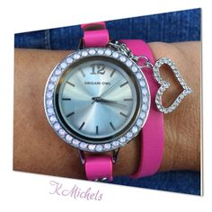 Did you know you can add a dangle onto the watch too? www.monicashae.origamiowl.com