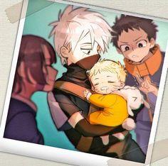 Young obito kakashi rin and adorable Naruto