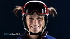 """Hannah Kearney. She won bronze in Sochi. I love her trademark """"pigtails"""" sticking out of her helmet!"""