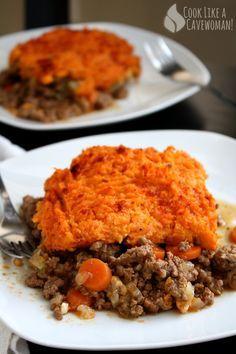 Sweet Potato Shepherd's Pie | Cook Like a Cavewoman! | Easy Paleo Recipes for Feel-Good Eating #gf #paleofriendly