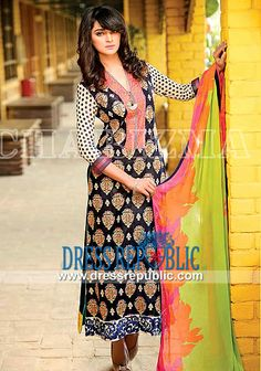 Charizma Embroidered Lawn Dresses 2014 by Riaz Arts  LE 014 Print from Limited Edition Vol 1 of Charizma Lawn 2014 Prices in Buckinghamshire, Nottingham and Kent, UK in Wholesale (Complete Sets) Prices. by www.dressrepublic.com