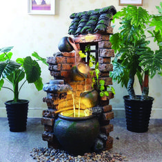 You are of course intimate with garden fountains and other outdoor water features. But have you once wondered how an indoor waterfall can shift the feel and look of your interior? Indoor Floor Fountains, Small Fountains, Indoor Fountain, Garden Fountains, Water Fountains, Water Fountain For Home, Tabletop Water Fountain, Fountain Design, Fountain Ideas