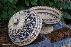 Поделка изделие Вышивка Плетение заказики Ленты Трубочки бумажные фото 3