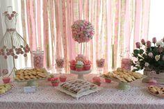 Pretty tea party dessert table #teaparty #desserttable