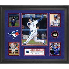 Toronto Blue Jays Josh Donaldson Fanatics Authentic Framed 5-Photo Collage with a Piece of