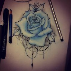 Come get a rose!  sophie.adamson@hotmail.co.uk #tattoo #design #rose…
