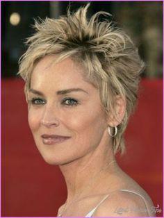 Sharon stone short hairstyles -