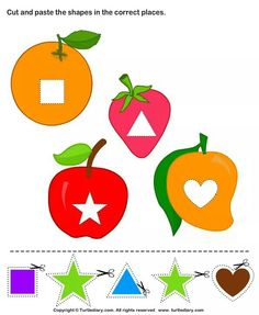 Cut and Paste Shapes Activities for Kids. Take a print of more Fun Craft Activities for Kids. Kindergarten Learning, Toddler Learning Activities, Craft Activities For Kids, Math Activities, Preschool Activities, Nursery Class Decoration, Cut And Paste, Fun Crafts For Kids, Kids Fun