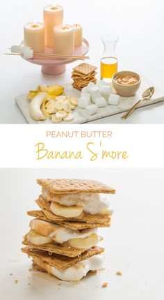 Skip the chocolate and indulge in this healthy and equally delicious Peanut Butter Banana S'more. Toast your marshmallows over a lit unscented candle for a romantic date night idea. #FunFoodSun