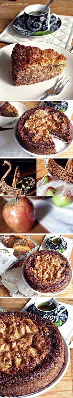 Bizcocho de manzana y chocolate