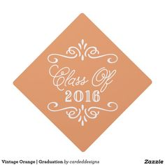 Vintage Orange | Graduation Graduation Cap Topper