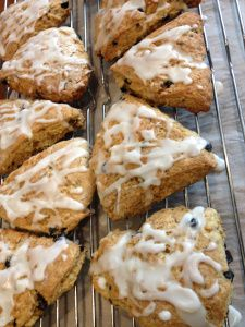 Skinny Scones only 180 calories each and full of good for you ingredients too! (free recipes at www.loseweightbyeating.com)