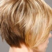 layered bob haircut for mature women
