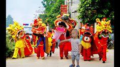 Bé đi chơi tết trung thu |  Múa lân Múa rồng Nhật Nam Tivi