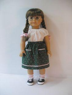 1944-1109  American Girl Doll Clothes, 18 inch doll clothing Dirndl Skirt Molly Emily. $11.75, via Etsy.