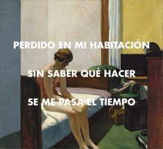 Edward Hopper - Hotel Room (1931) // Mecano - Perdido en mi habitación (1981)