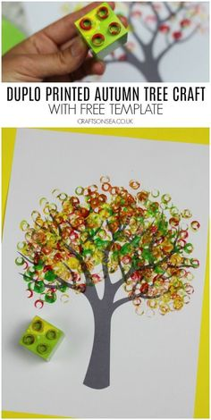 Autumn Tree Painting Ideas for Kids Duplo printed autumn tree crafts for kids Kids Crafts, Fall Crafts For Kids, Tree Crafts, Thanksgiving Crafts, Toddler Crafts, Art For Kids, Christmas Crafts, Arts And Crafts, Quick Crafts