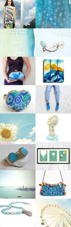Blue sky by Elinor Levin on Etsy--Pinned with TreasuryPin.com