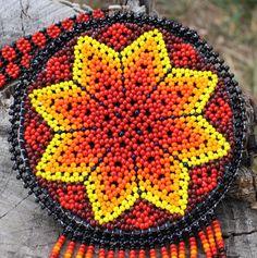 Handmade Star Pouch Beadwork Necklace by MiCasitaDeChaquira