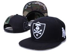 abc451fc7e9 A BATHING APE Snapback Hats Aape Hats New Era Caps Black Camo 025 A Bathing