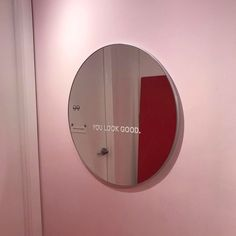 you look good + pink aesthetic + mirror Cooler Spiegel, Mirror Stickers, Cool Mirrors, New Wall, My New Room, Pink Aesthetic, Wall Collage, Wall Art, Decoration