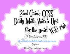 daily spiral review of the 2nd grade Common Core math standards