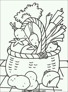 Vegetables picture to print and color Educational Coloring Pages