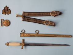 Austro-Hungarian – ceremonial daggers for officers of the Navy Austro Hungarian, Fantasy Weapons, Cold Steel, 3d Modeling, Sound Of Music, Knifes, Rare Antique, Wwi, Austria