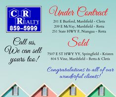 Congratulations to our agents and their clients! Give us a call for all of your buying and selling needs! Missouri Real Estate, Congratulations