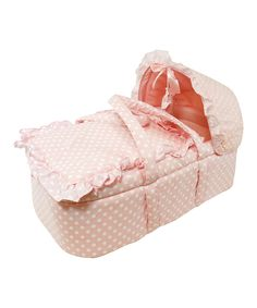 Look what I found on #zulily! Stephan Baby Pink Polka Dot Moses Basket by Stephan Baby #zulilyfinds