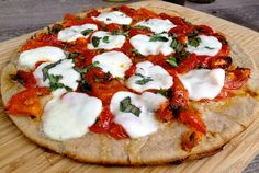 Roasted Tomato,Basil and Mozzarella GF Grilled Pizza