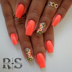 Desenhos de unhas decoradas, unhas verdes, unhas da moda, melhores unhas, u Simple Nail Designs, Acrylic Nail Designs, Nail Art Designs, Acrylic Nails, Pretty Nail Colors, Pretty Nail Art, Nagellack Trends, Fabulous Nails, Bling Nails